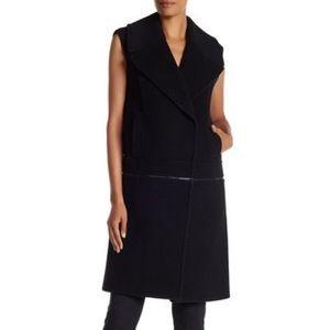 Elite Tahari Green Willa Wool Convertible Vest